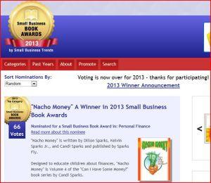 NACHO MONEY - 2013 Book Award
