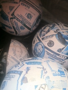 Money Balls are used to teach young children about stocks