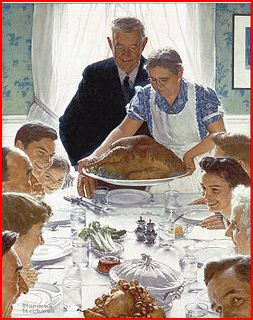 """Norman Rockwell painting """"Freedom from Want"""""""
