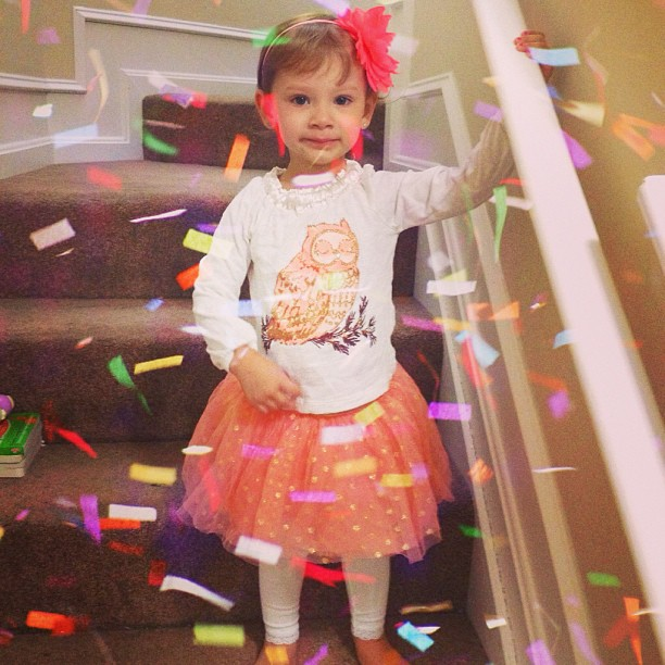 Cute little girl is princess on ther birthday