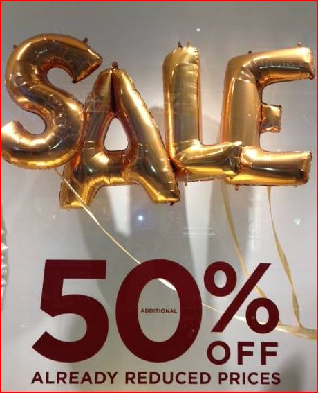 Sale - 50% off already reduced prices