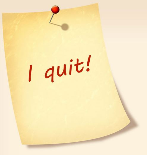 6-figure income earner quits.