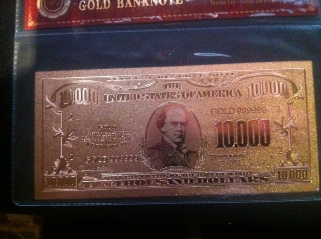 All that glitters is this 24K Carat Gold Bank Note