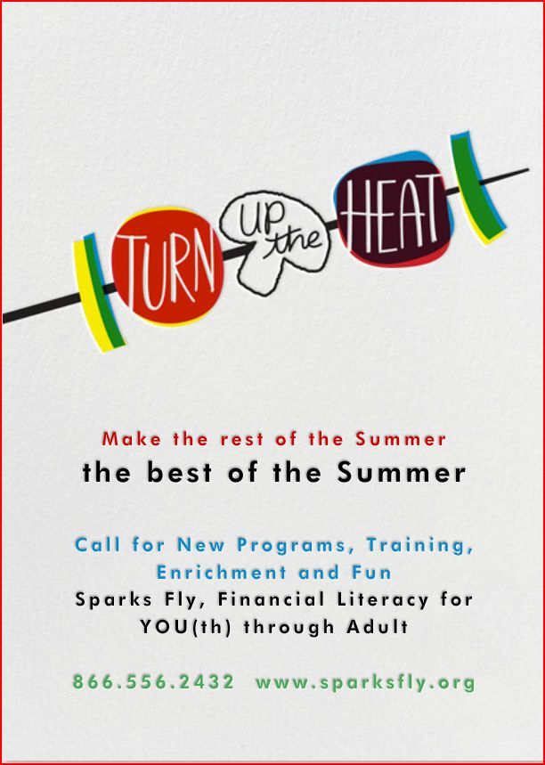 Summer greetings to those fellow educators who want to soak up the rest of the summer! We'll see you in September with new Financial Literacy for YOU(th) through adult!