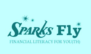 Greenish Blue Sparks Fly logo
